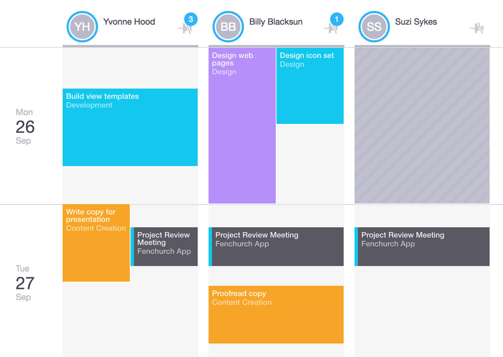 Workstack allows you to schedule meetings and time off