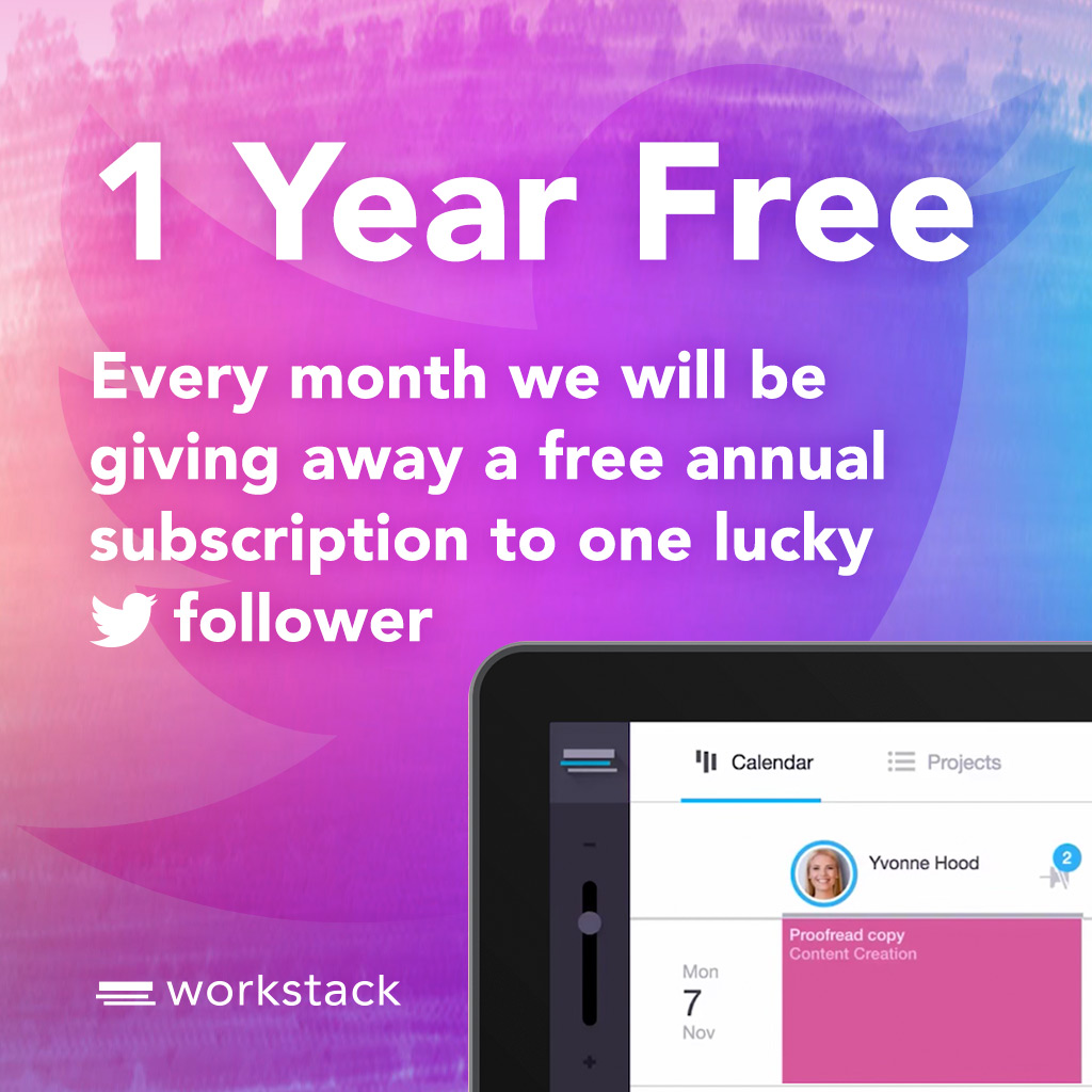 Get one year free subscription to Workstack
